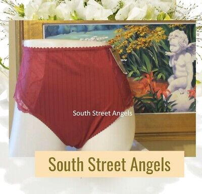 Chantelle 3378 Dark Red ~ Vintage Cachemire Control Brief ~ New Without Tags Xl