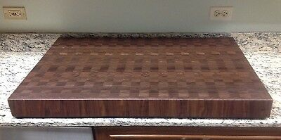"Cutting Board 3"" Thick Walnut Butcher Block End Grain 24 X 36 Dark Brown Wood"