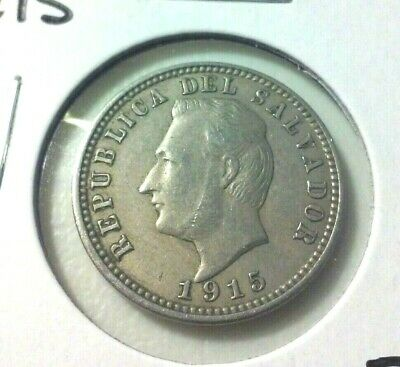 1915 Salvador 3 Centavos Coin  - KM#128  -  Sharp Details -  (#IN5830)