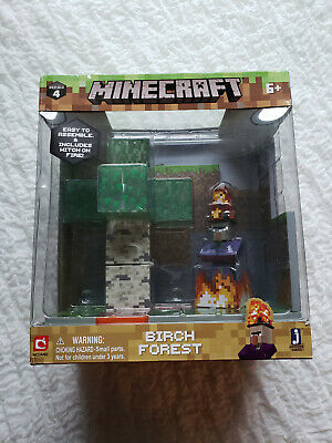 Minecraft Birch Forest Biome Action Figure Set Series 4 Toy Witch On Fire