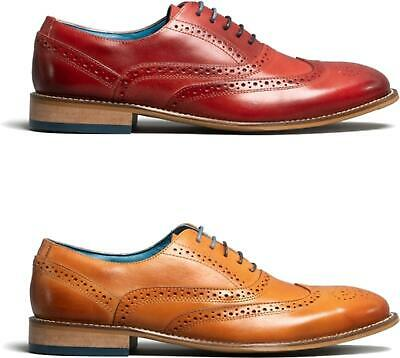 Oswin Hyde WINSTON Mens High Quality Leather Lace-Up Smart Brogue Oxford Shoes