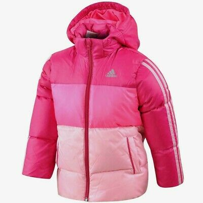 adidas Girls Lifestyle Winter Down Jacket Junior Kids Quilted Coat 6,7,8,9 Years
