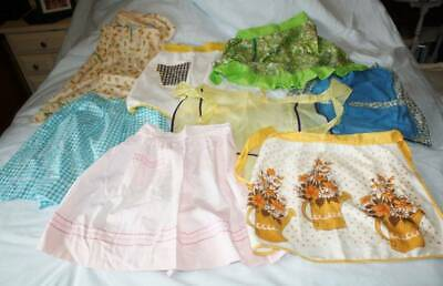 Lovely Vintage Lot Of 8 Half Aprons