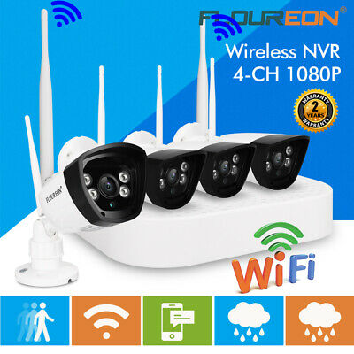 4CH Wireless Wifi 1080P DVR NVR Recorder Outdoor 720P IP Security Camera System