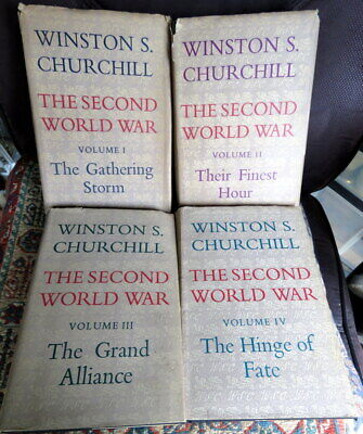 The Second World War Winston S Churchill 1st Edition Vol 1-4 Cassel with DJs