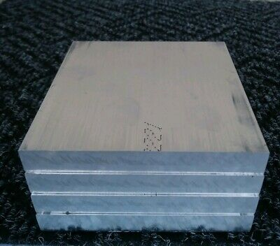 "4 pc 6061 aluminum .5"" X 4"" X 4"" long new solid plate flat stock bar block 1/2"