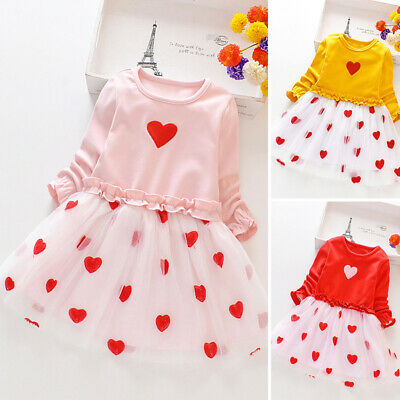 Toddler Kids Baby Girls' Dresses Princess Party Dress Clothes Ruffles Outfit New