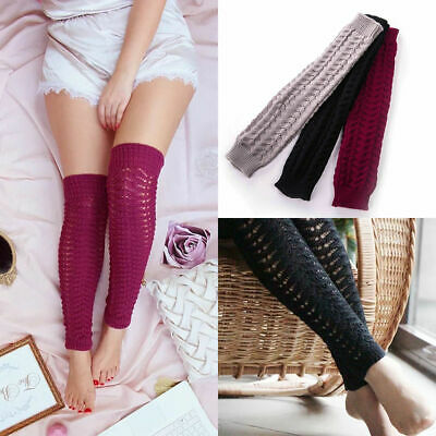 Feature: 100% brand new and high quality  Women Solid Colour Crochet Thigh High
