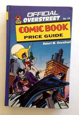 Overstreet Comic Book Price Guide 19th Edition Hardcover 1989 VF+  Batman Cover