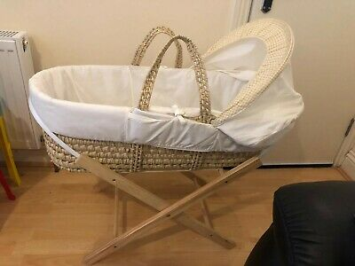 Asda George Kindervalley Littler Rocker Moses Basket & Stand EXCELLENT CONDITION