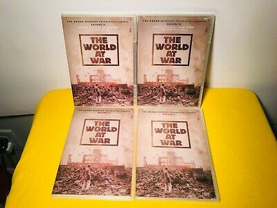 Lot of 4 AE Dvds:  THE WORLD AT WAR Vol. 3, 5, 6, & 8.  NWT