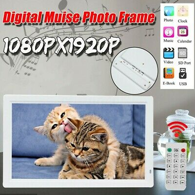 17 Inches Screen HD LED Digital Photo Frame 1440*900 Electronic Picture Album $#