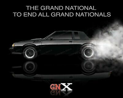 Buick GNX Poster      Grand National   WE4  T-Type  Turbo-T