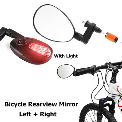 Small 3D REARVIEW Bike Handlebar Away Mirror 15-22mm Optical Convex Lens