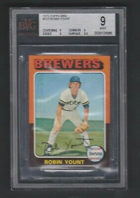 1975 Topps #223 Robin Yount Rookie Card Graded BCCG 9