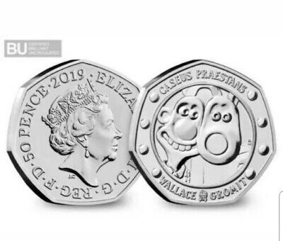 2019 Wallace And Gromit 50P Fifty Pence 30Th Anniversary