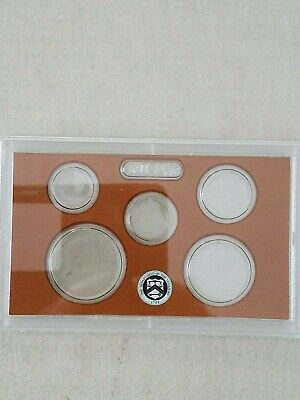3~Empty Packing~ 5 Coin ~Proof Set~ Plastic Lens~ With Brown~ Insert Labeled