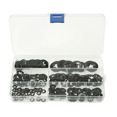 280Pcs/Kit Internal Tooth Starlock Push On Locking Washers Speed Clips Fasten UK