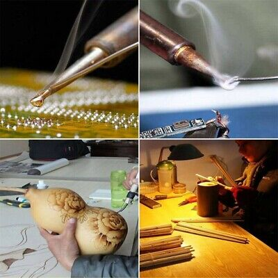 60W Wood Burning Pen Soldering Tool Crafts Welder Tools Set Pyrography Kit Tip U