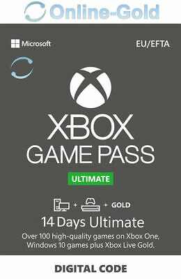 Xbox Game Pass Ultimate - 14 días Microsoft código Digital Xbox One xbox 360 ES