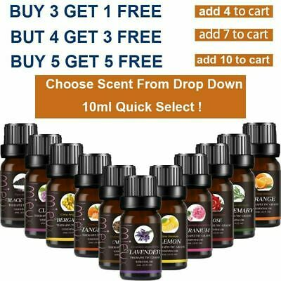 10ml Essential Oils Aromatherapy Natural Pure Organic Essential Oil Fragrance AU
