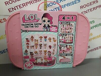 LOL Surprise! Fashion Show On-the-Go Storage Playset NEW WITH DOLL Light Pink