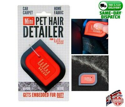 Lilly Brush Mini Pet Hair Detailer Clean Car Interiors- UK FREE&FAST DELIVERY
