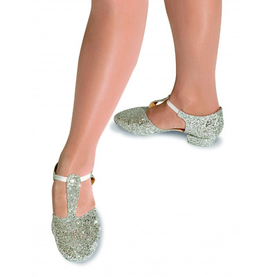 Silver glitter dance greek sandals - various sizes