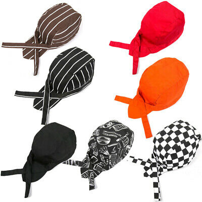 Professional Classic Kitchen Chefs Skull Cap Chef Hat Catering Chef Cap 7 Colors