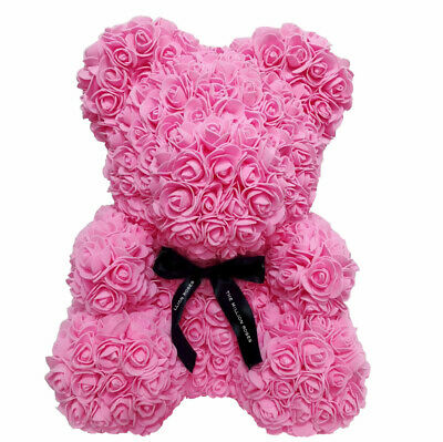 Weihnachtsgeschenk Rose Bear Flower Valentinstag Party Love Teddy 40cm Pink