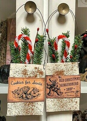 Holiday Primitive Grubby Herbs Pouch Peg Hanger Sweet Annie Homestead Christmas