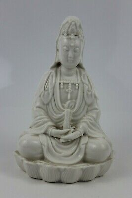 Antique Chinese Blanc de Chine Porcelain Guanyin Bodhisattva Ornament  16cm High