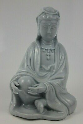 Antique Chinese Dehua Porcelain Guanyin Bodhisattva Ornament 13cm High   SIGNED