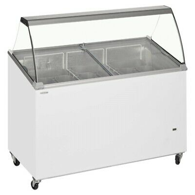 Tefcold ICP400SCE 1.3m Tub Ice Cream Display Freezer With Canopy 1300mm 9 Pan