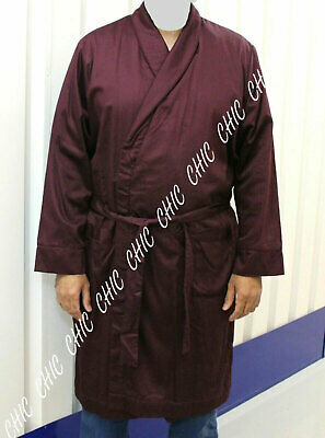 M & S Mens Supersoft Cotton Luxry Bath Robe Towelling Lined Dressing Gown Medium