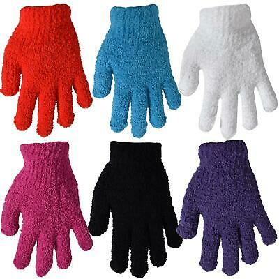 Womens Gloves Stretchy Fashion Winter Warm Soft Cosy Towel Feel One Size Fit All
