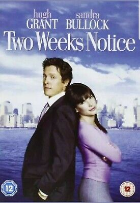 Two Weeks Notice DVD 2002 - Warner Home Video - Very Good - DVD