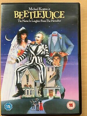 Beetlejuice DVD 1988 Horror Comedy Movie Classic with Michael Keaton