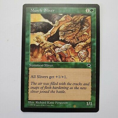 MTG Magic The Gathering Muscle Sliver Tempest Playset of 4 Cards HP
