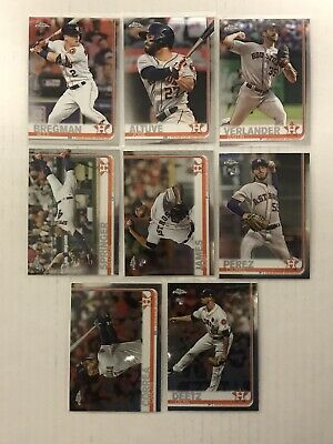2019 Topps Chrome Houston Astros 25 Card Lot(base,refractors,pink,sepia,more)