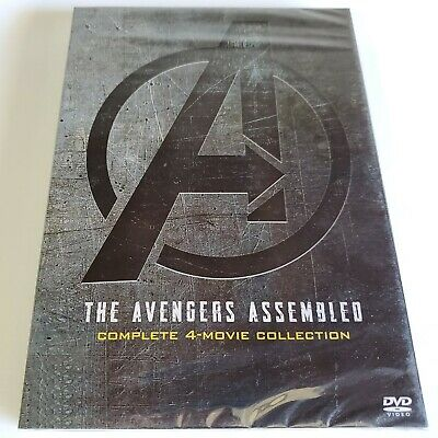 Avengers 1-4 Movie Box Set DVD: Includes All 4 Films! Brand New Sealed!