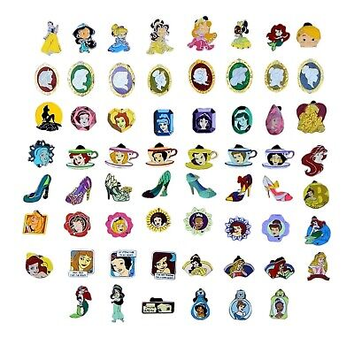 Princess Themed 10 Disney Park Trading Pins Set ~ Randomly Assorted ~ Brand NEW