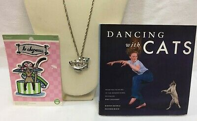 Dancing With Cats by Burton Silver & Heather Busch Watch Pendant Applique Lot 3