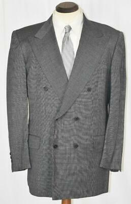 Near Perfect Luciano Barbera Sartoriale Side Vent Grey Nailhead SUIT 40 R