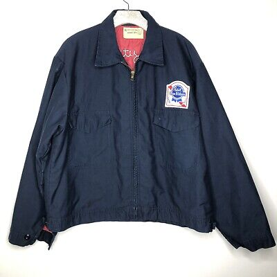Beer Delivery Uniform Jacket Pabst Blue Ribbon Vintage Universal Coveralls XL