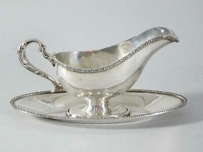 Sterling Silver Gravy Boat with Under tray by Hamilton & Diesenger