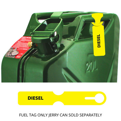 Fuel Container ID Yellow Tag Diesel Tag FCTYEL