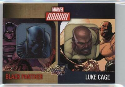 2016 Upper Deck Marvel Annual Character Black Panther Luke Cage Dual Patch 0p6