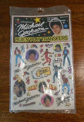 MICHAEL JACKSON Vintage 1984 Colorforms RUB N' PLAY TRANSFERS NEW unopened