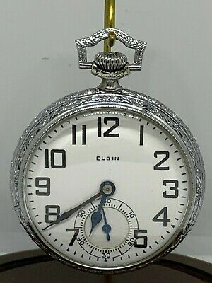 Elgin B.W. Raymond 16s 21j Grade 478  circa 1926 Railroad pocket watch running